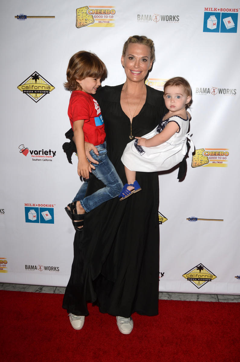Molly Sims and kids