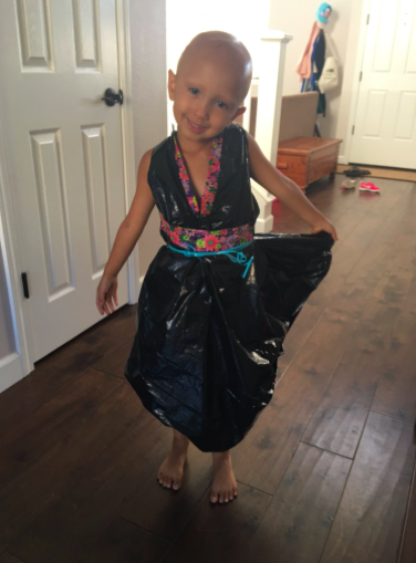 zoe trash bag dress