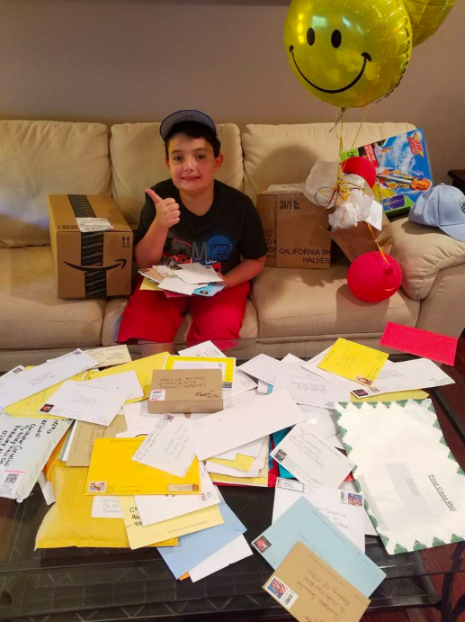christopher with fan mail