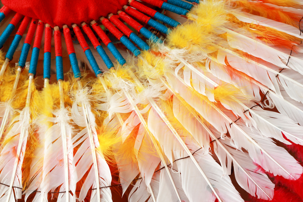 native american headdress feathers