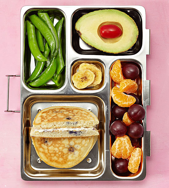 Pancake sandwich bento box lunch