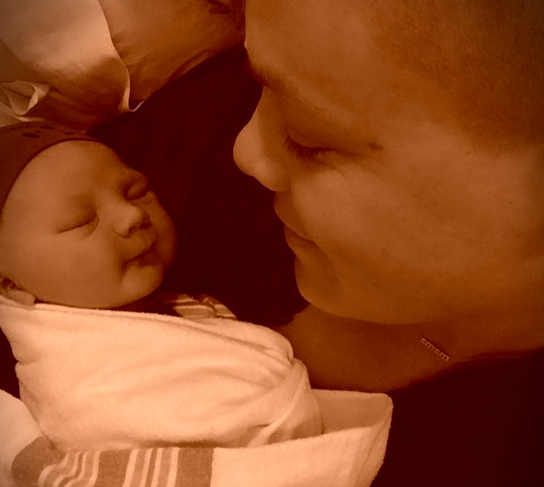 pink welcomes a son