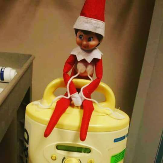 lactating elf on the shelf