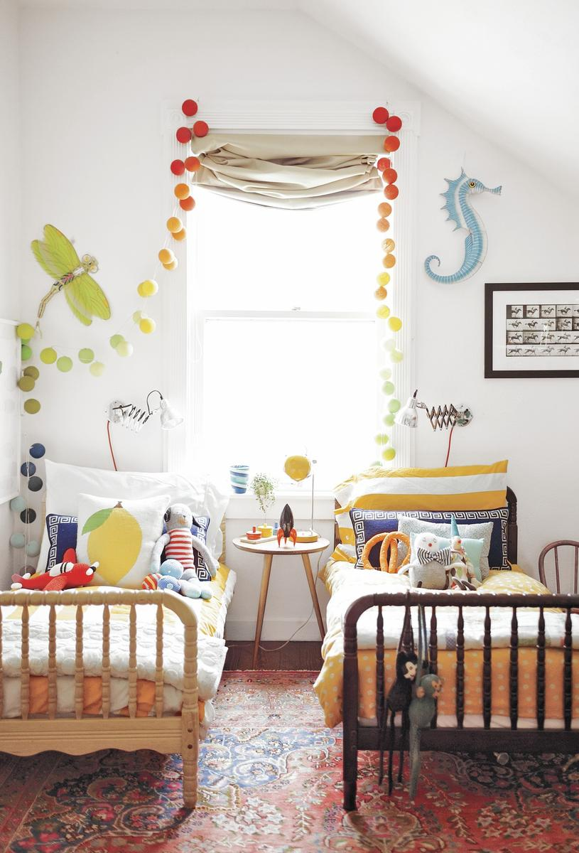 Sleep Space Fixes Toddler Beds Colorful Orange Sheets Blue Seahorse