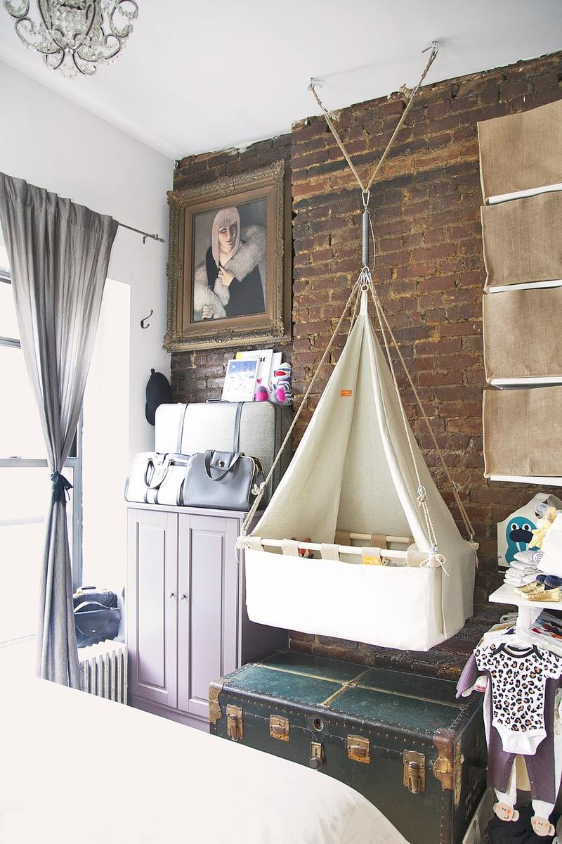 Sleep Space Fixes Studio Apartment Nursery Hanging Bassinet