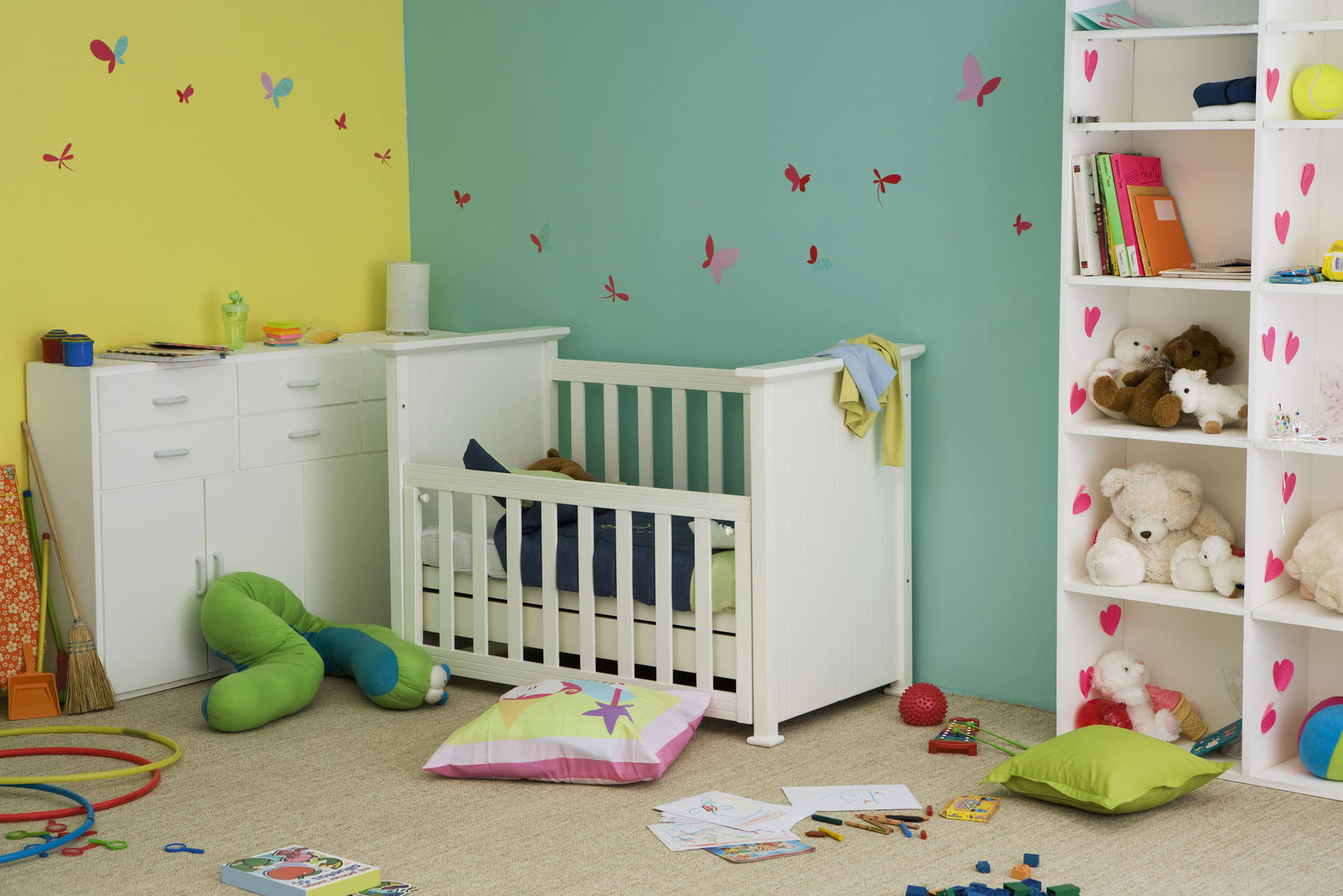 Crib and nursery