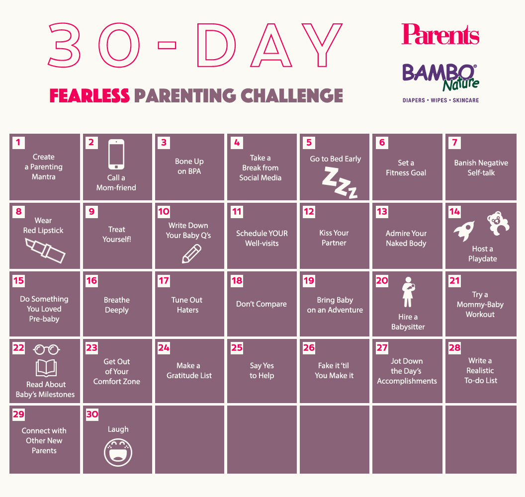 30-Day Fearless Parenting Challenge Calendar