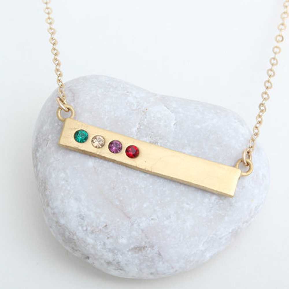 cool mother's day gift idea: personalized necklace with family's birthstones