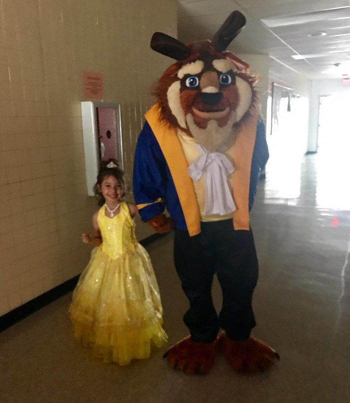 Beast at daddy-daughter dance