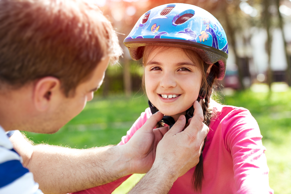 child bike helmet fits properly
