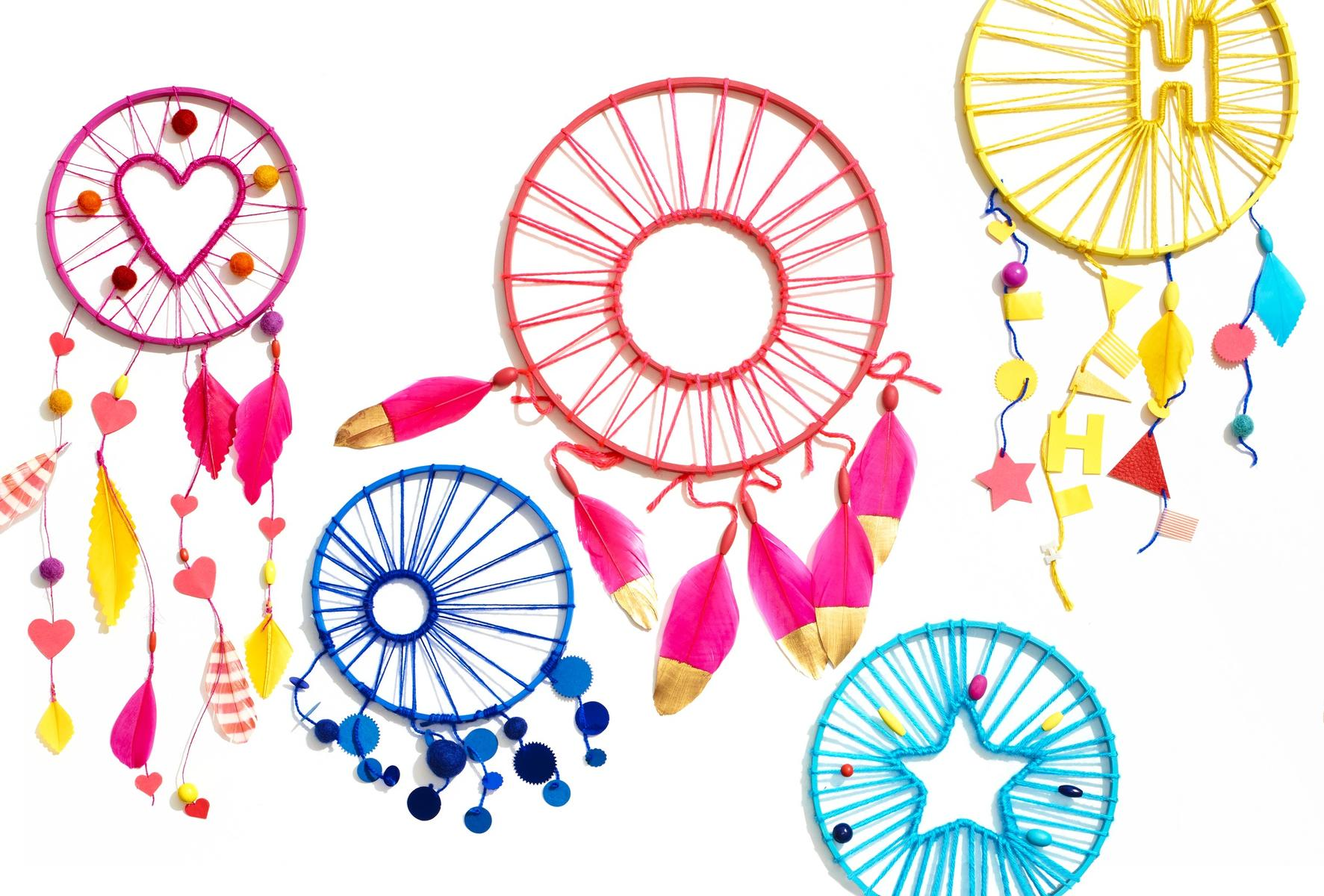 Colorful Dream Catchers Craft