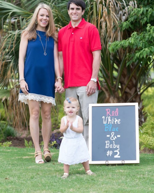 claire cervino fourth of july pregnancy announcement