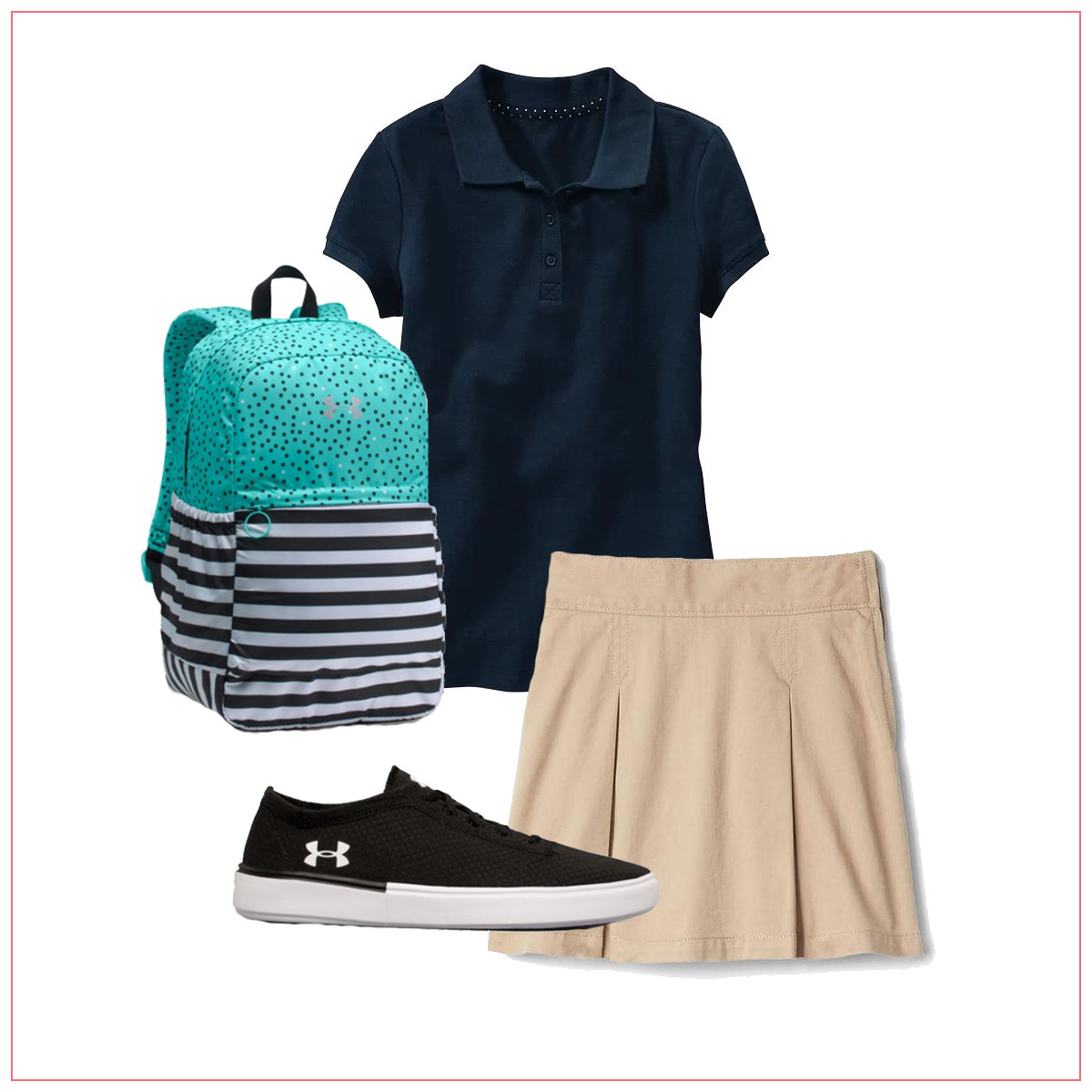 Girls' Back-to-School Outfit Uniform