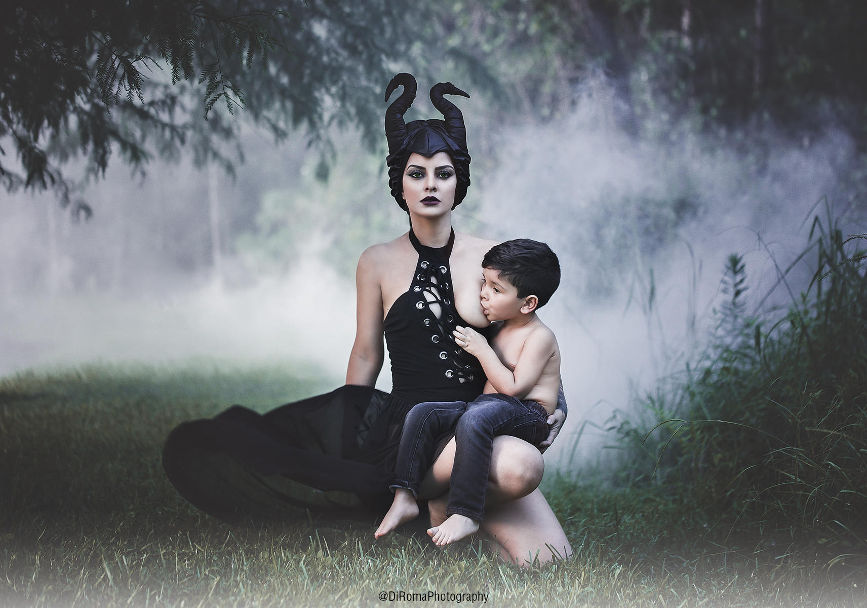 di roma photography - maleficent breastfeeding shoot