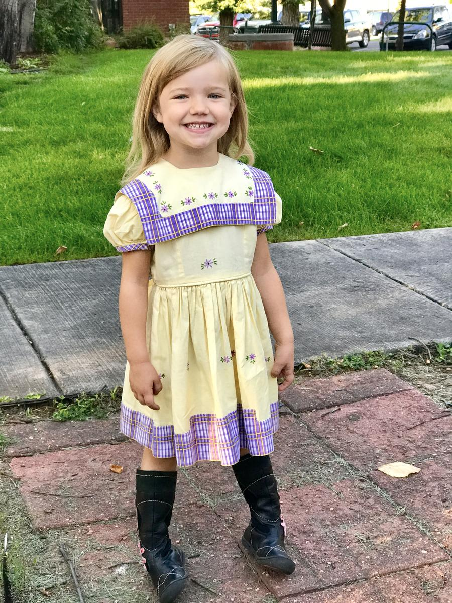 the kindergarten dress's latest wearer