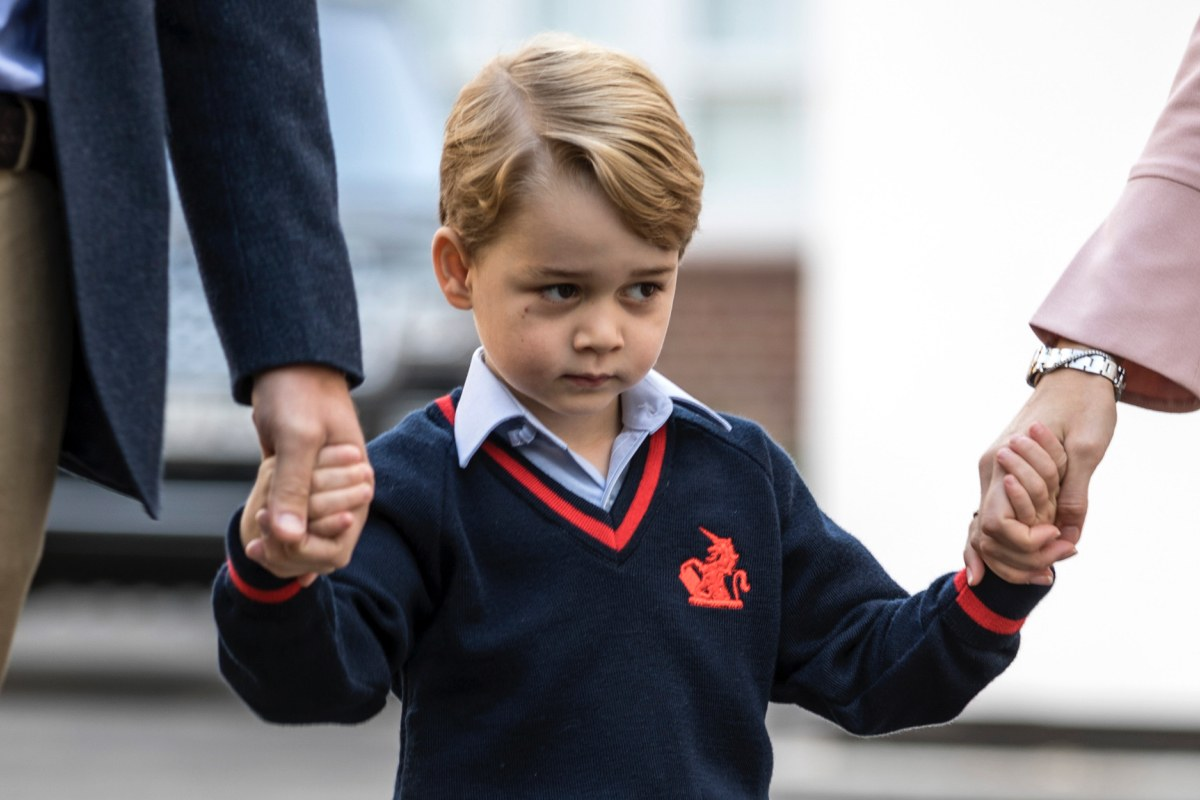 Prince George looks adorably nervous on his first day of school_still