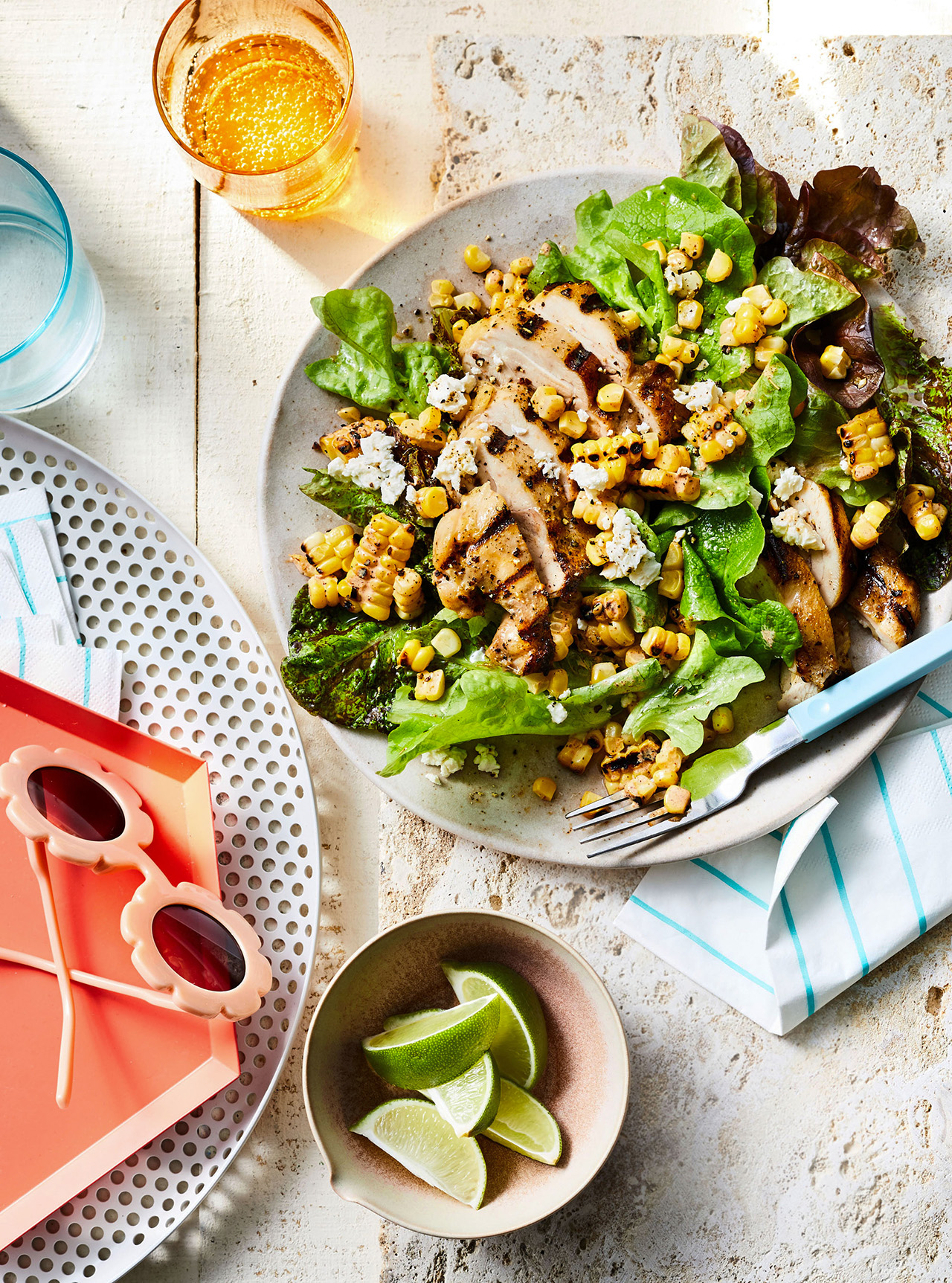 Grilled Chicken and Mexican Street Corn Salad