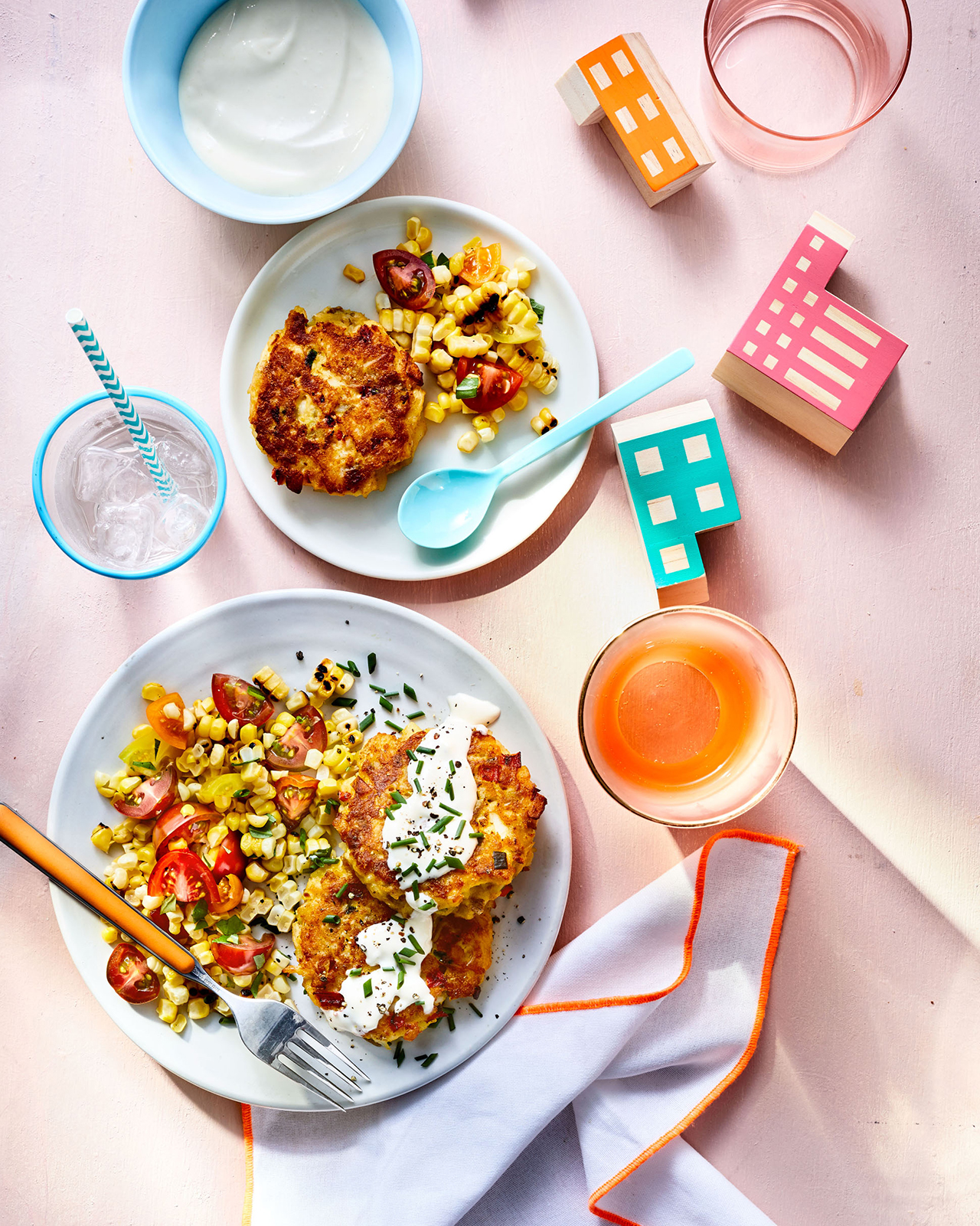 Crab Cakes with Grilled Corn Salsa