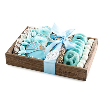 Chocolate and Candy Baby Boy Blue Gift Tray