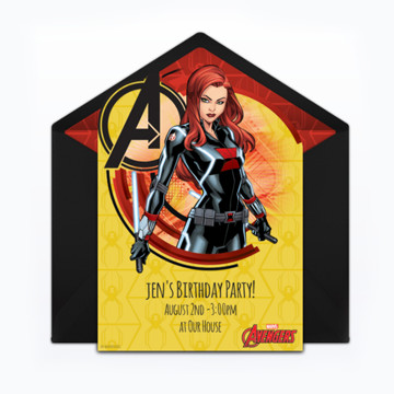 Black Widow Party Invitation