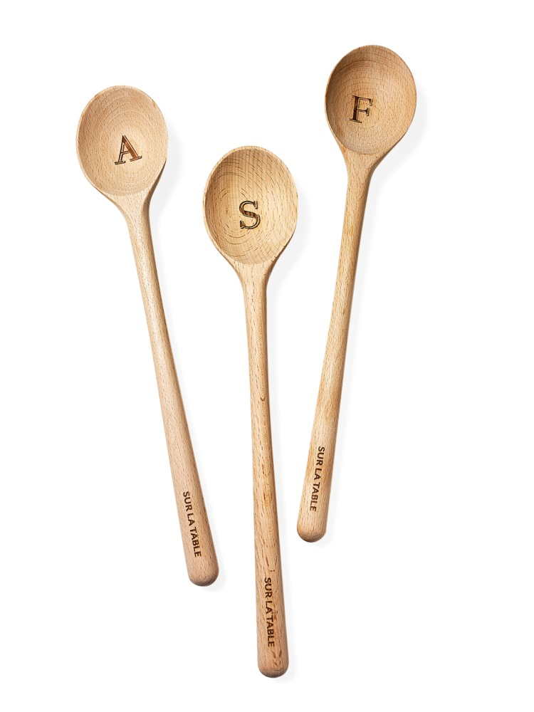 Customized Gifts Beechwood Monogram Spoon