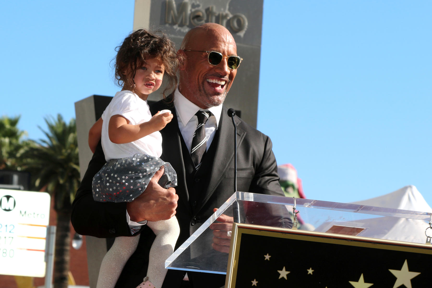 The Rock and his daughter Jasmine