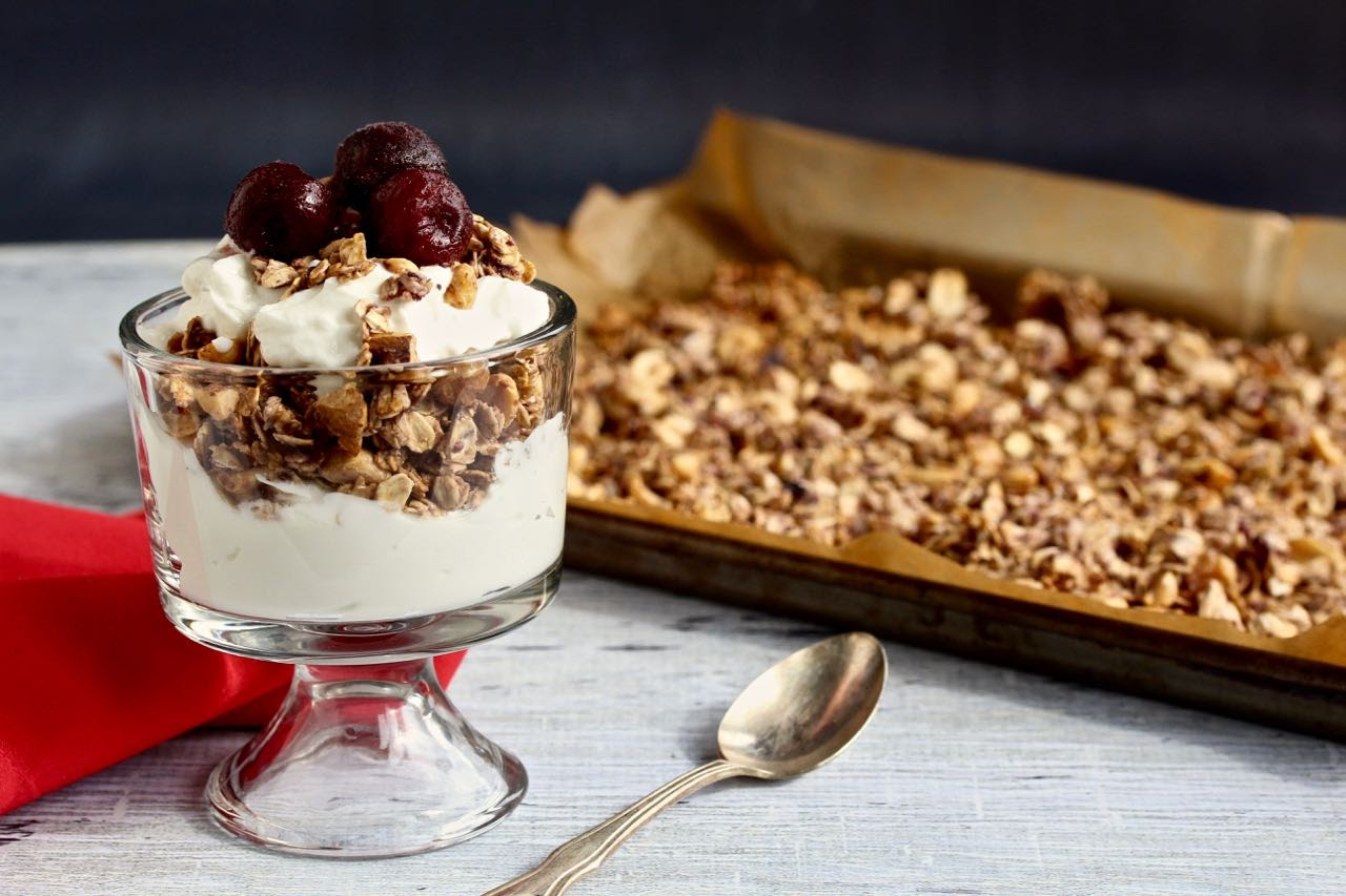 PB&J Greek Yogurt Parfaits