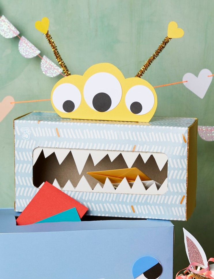 Valentines Day Tissue Mailbox Little Monster