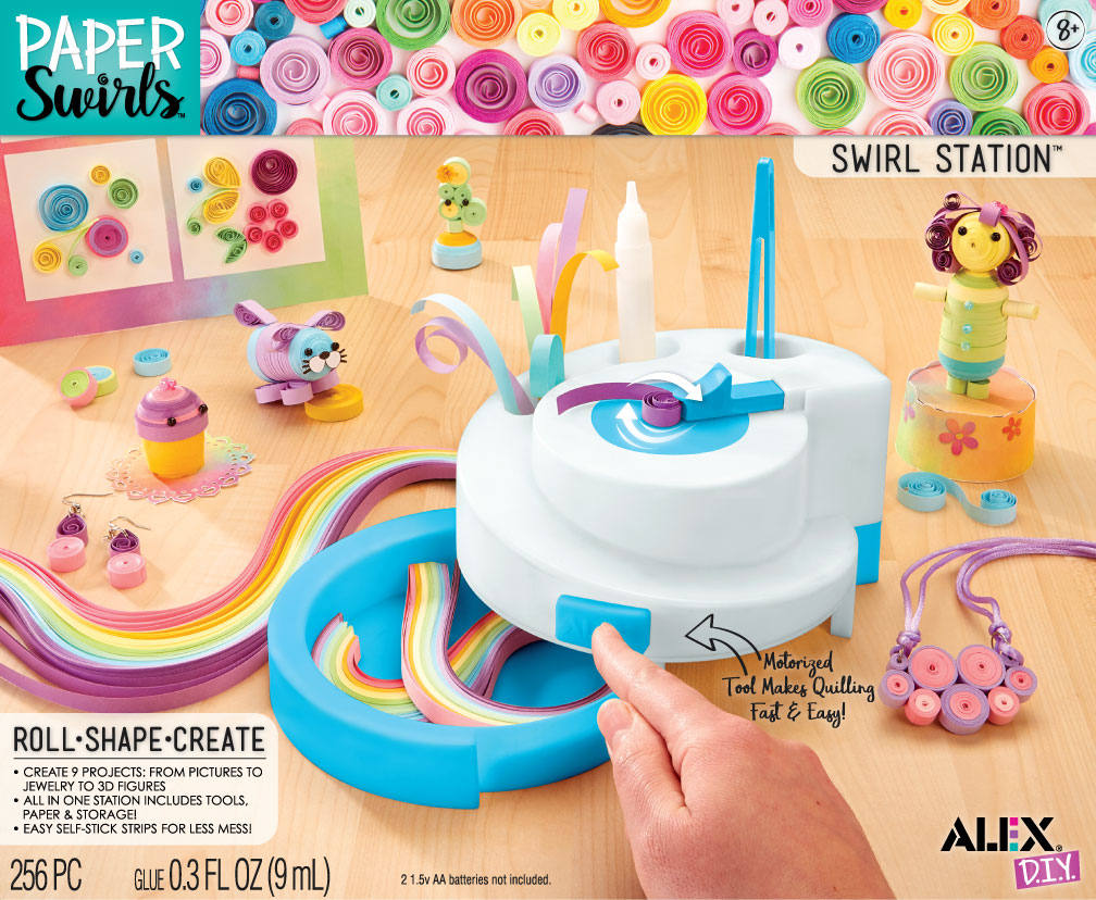 Alex DIY Paper Swirls Swirl Station