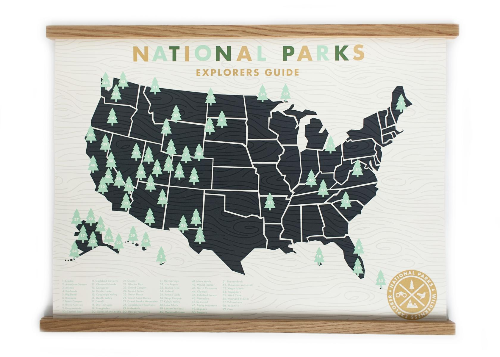 Ello There National Park Checklist Map