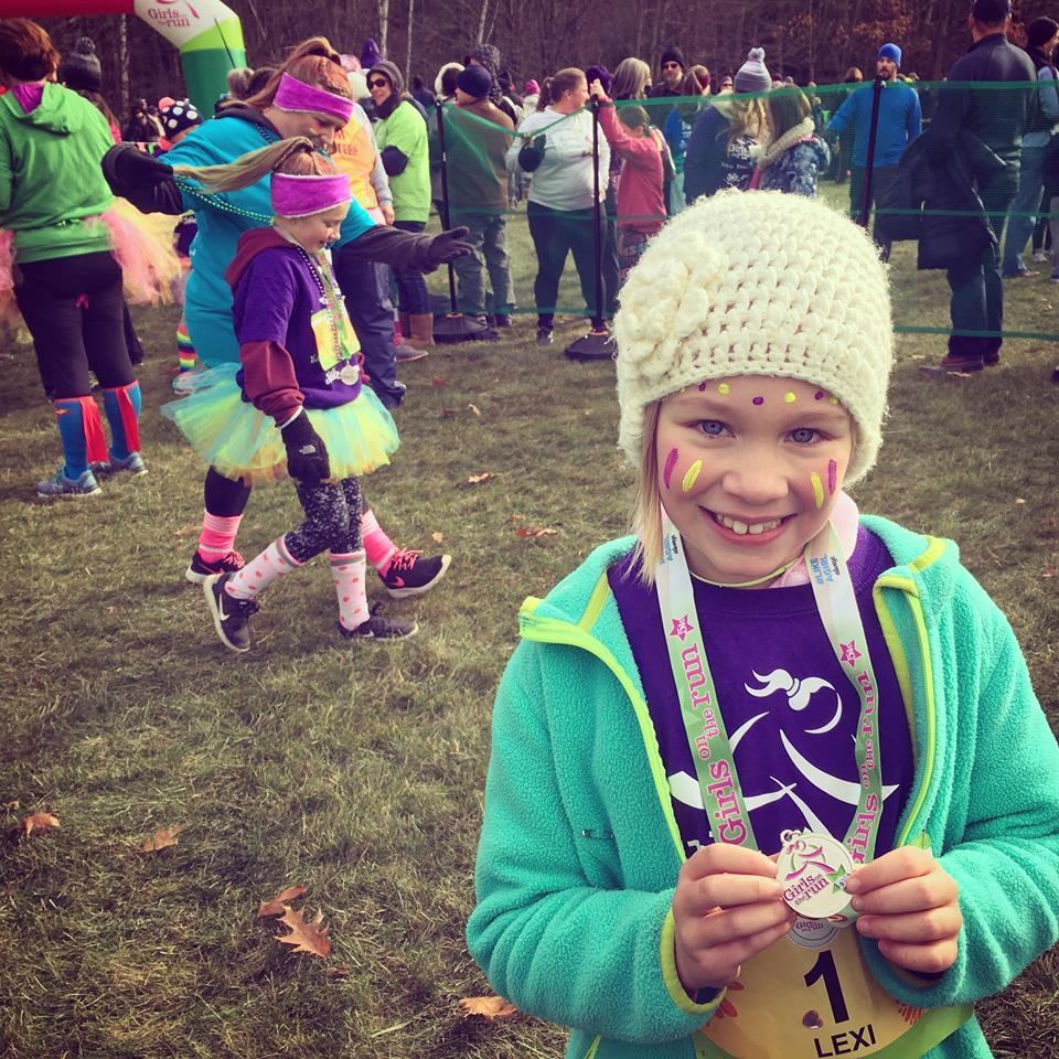 Six months after her diagnosis, Lexi completed her first 5K