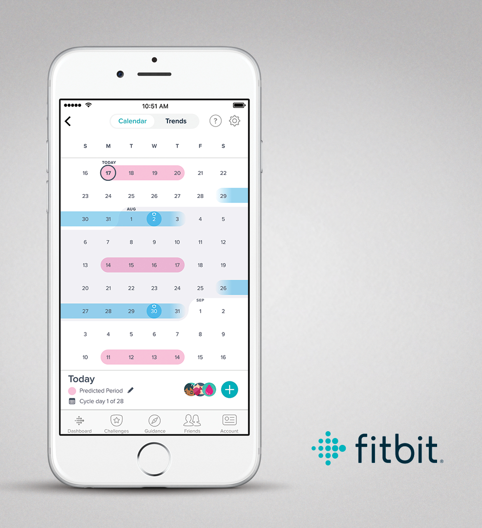 Fitbit App iOS Female Health Calendar