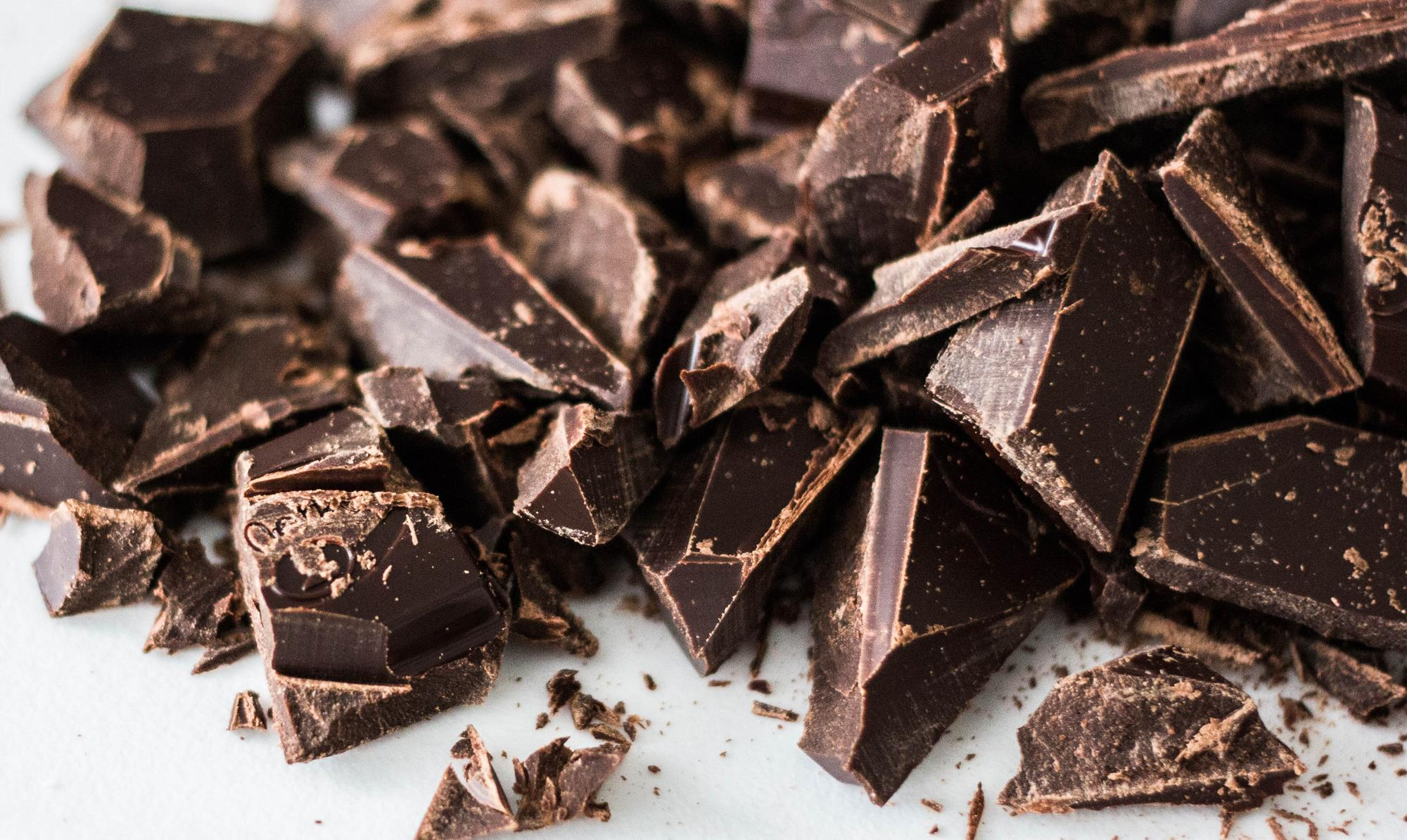 Dark Chocolate Bar Chunks Chopped
