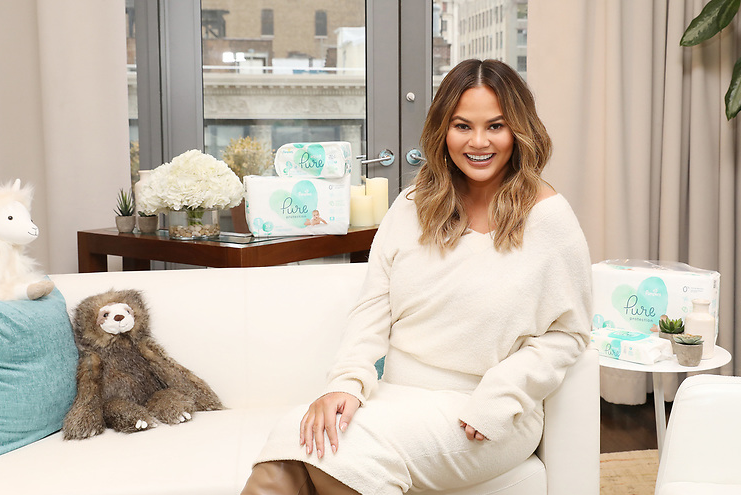 Chrissy Teigen Pampers Pure