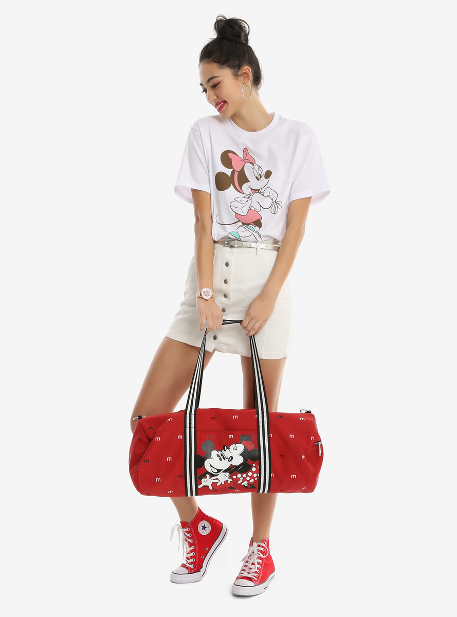 Loungefly Disney Mickey Mouse & Minnie Mouse Lovebirds Duffle Bag