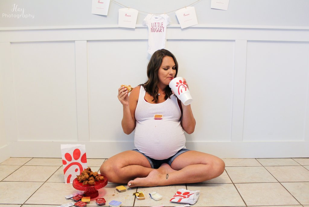 chick-fil-a maternity shoot