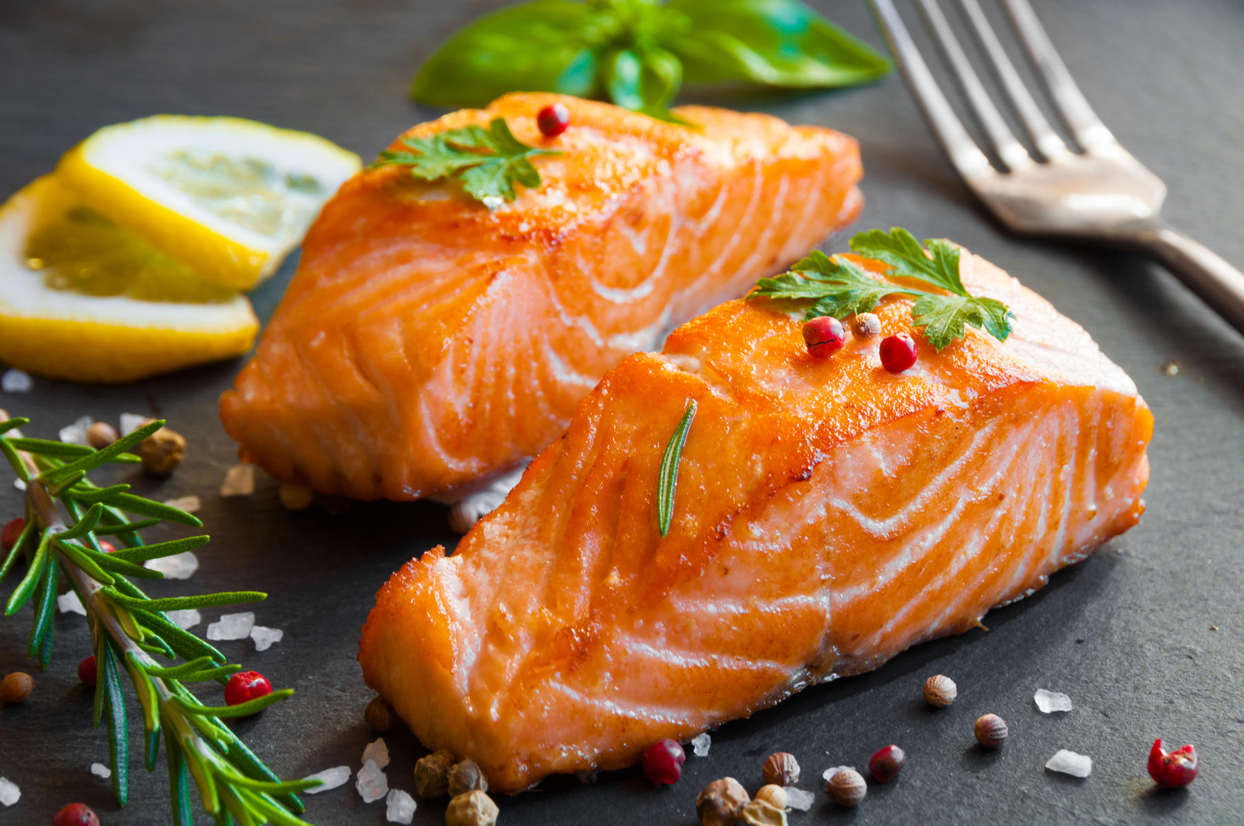 Cooked Salmon Fillets