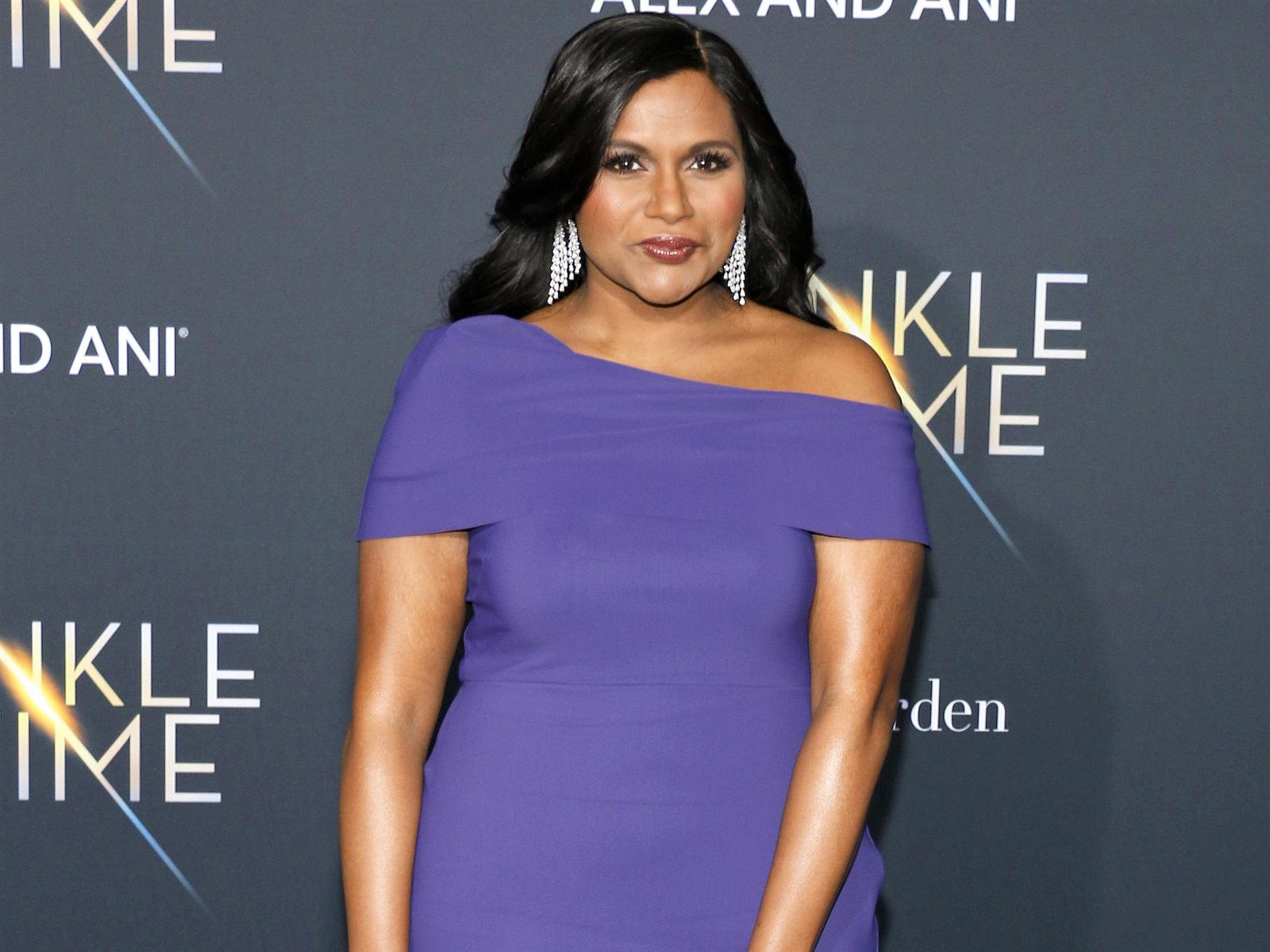 Mindy Kaling Purple Dress Movie Premiere