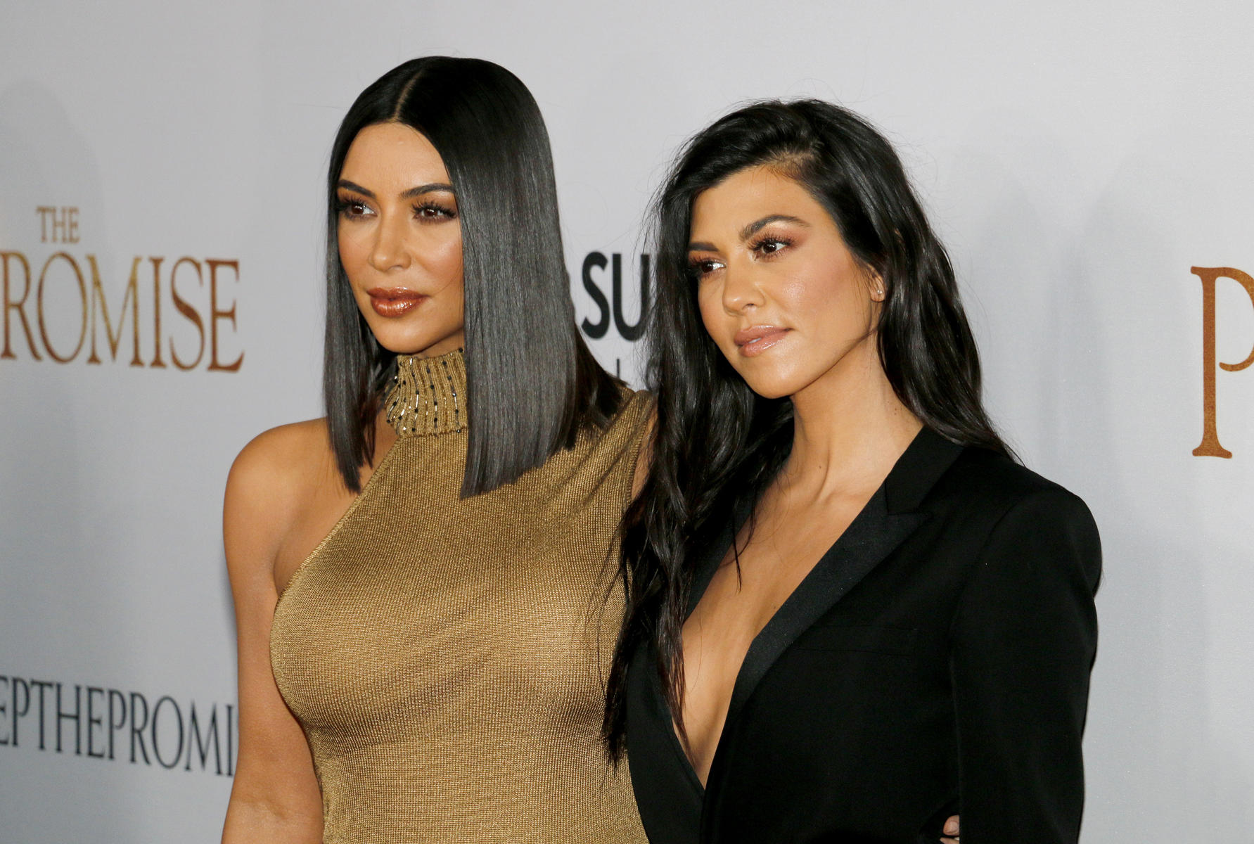Kim Kardashian and Kourtney Kardashian