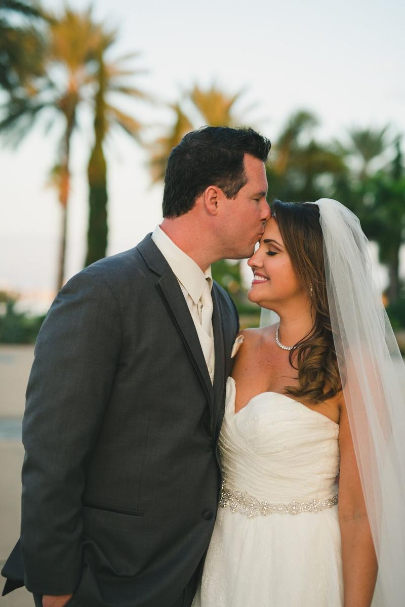Amy and Justin Pounders' Wedding Portrait