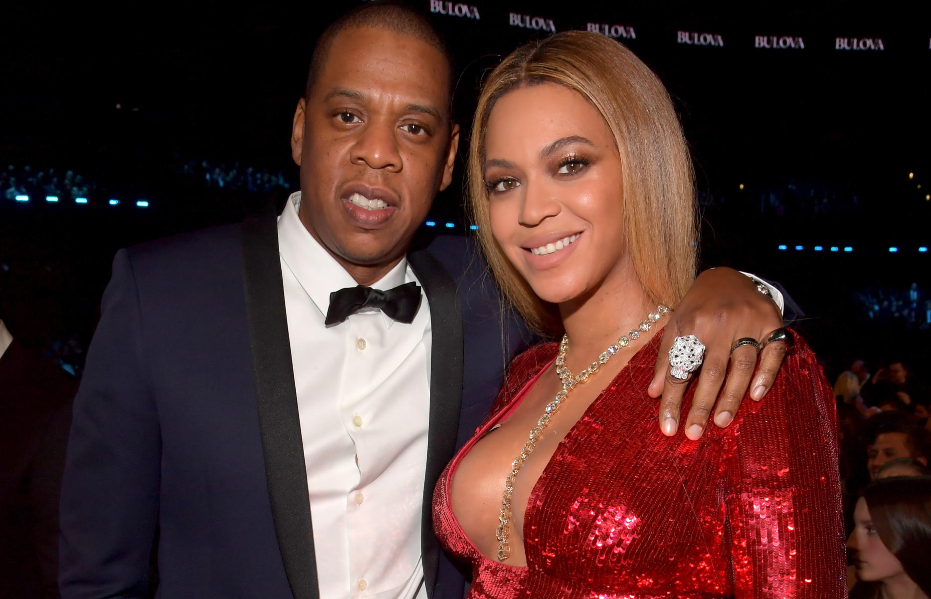 Jay Z and Beyonce Red Dress