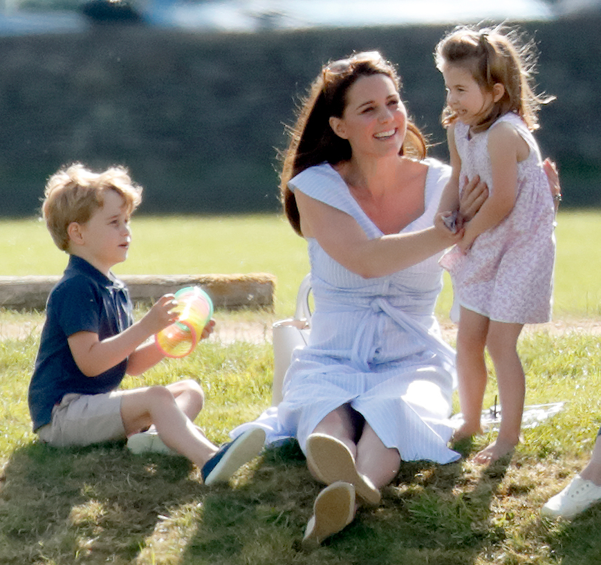 Kate Middleton with Prince George and Princess Charlotte Maserati Royal Charity Polo Trophy