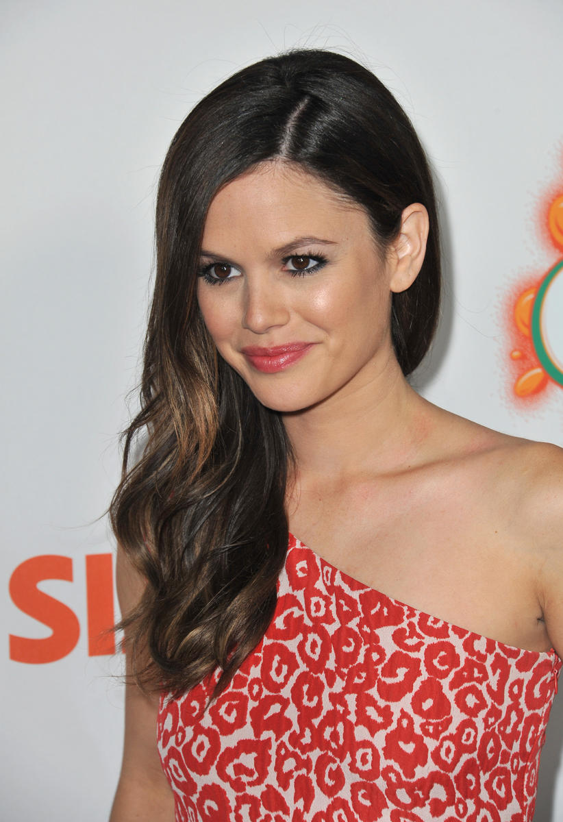Rachel Bilson Red White Dress