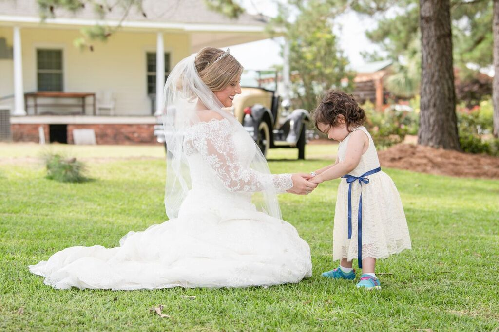 Bride, Hayden Ryals and Flower Girl, Skye McCormick