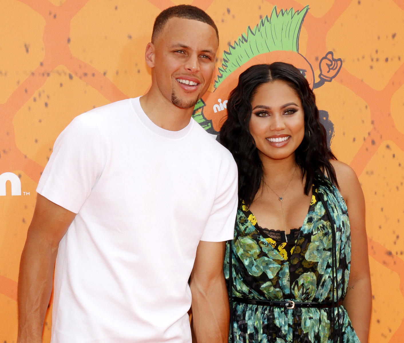 Steph Curry and Ayesha Curry Orange Carpet