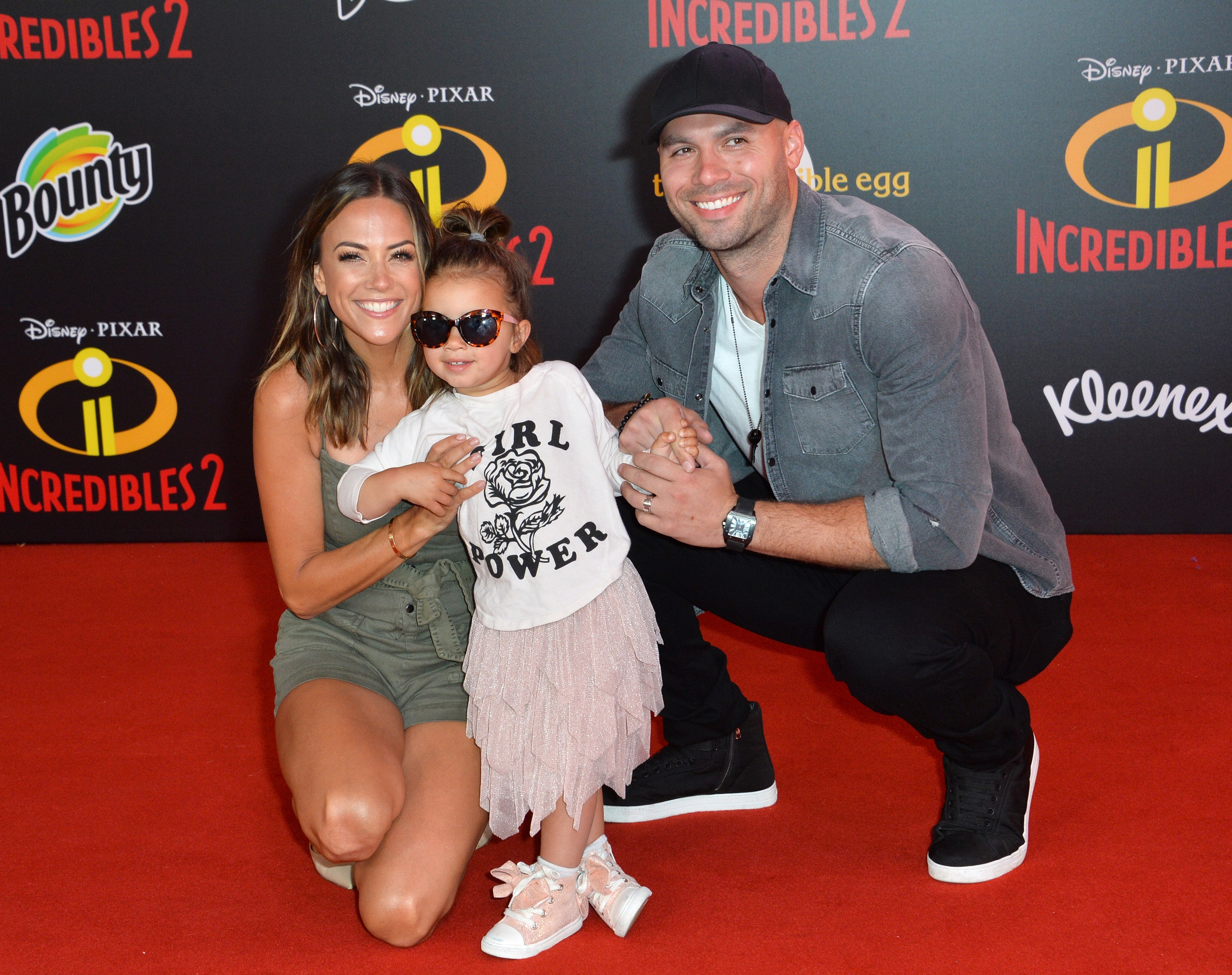 Jana Kramer and Husband Mike Caussin with Daughter Jolie Rae at Incredibles 2 Premiere