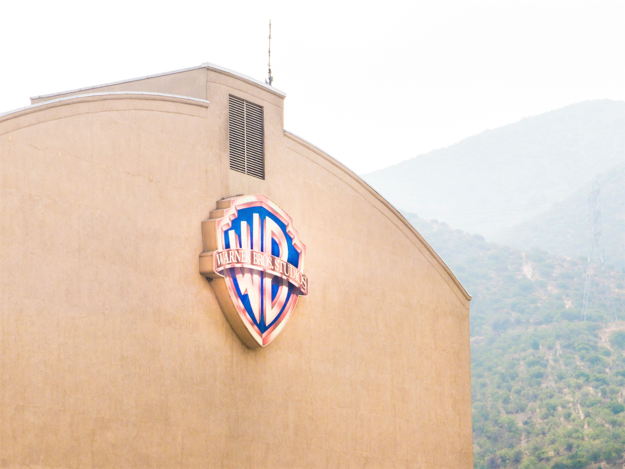 Warner Bros. Studios Logo on Building