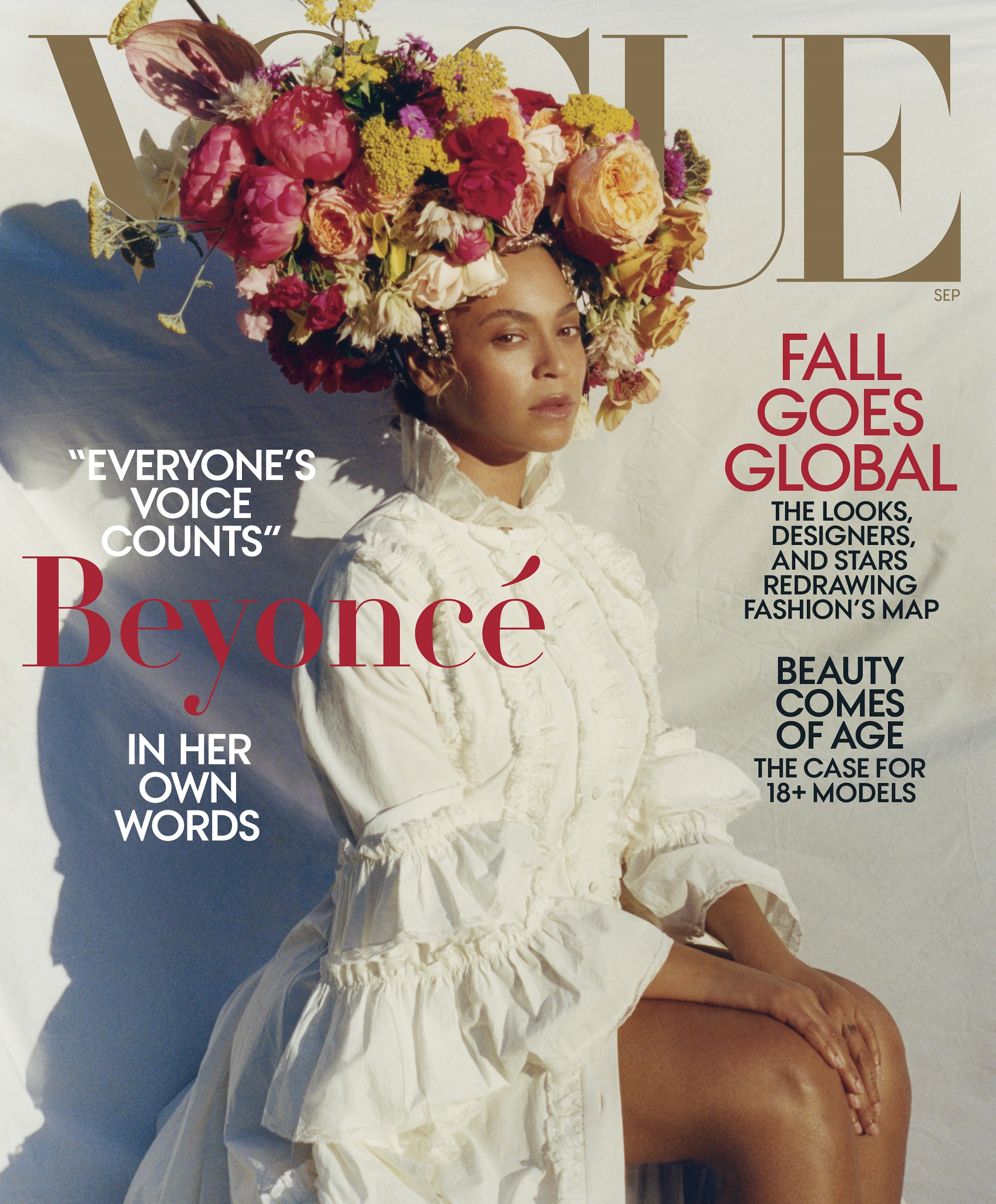 Beyonce Vogue Shoot 4 COVER