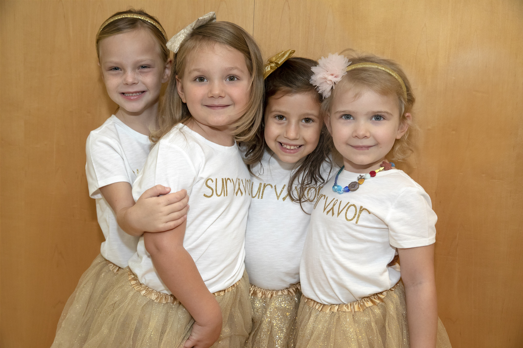 McKinley, Ava, Chloe and Lauren cancer survivors 1