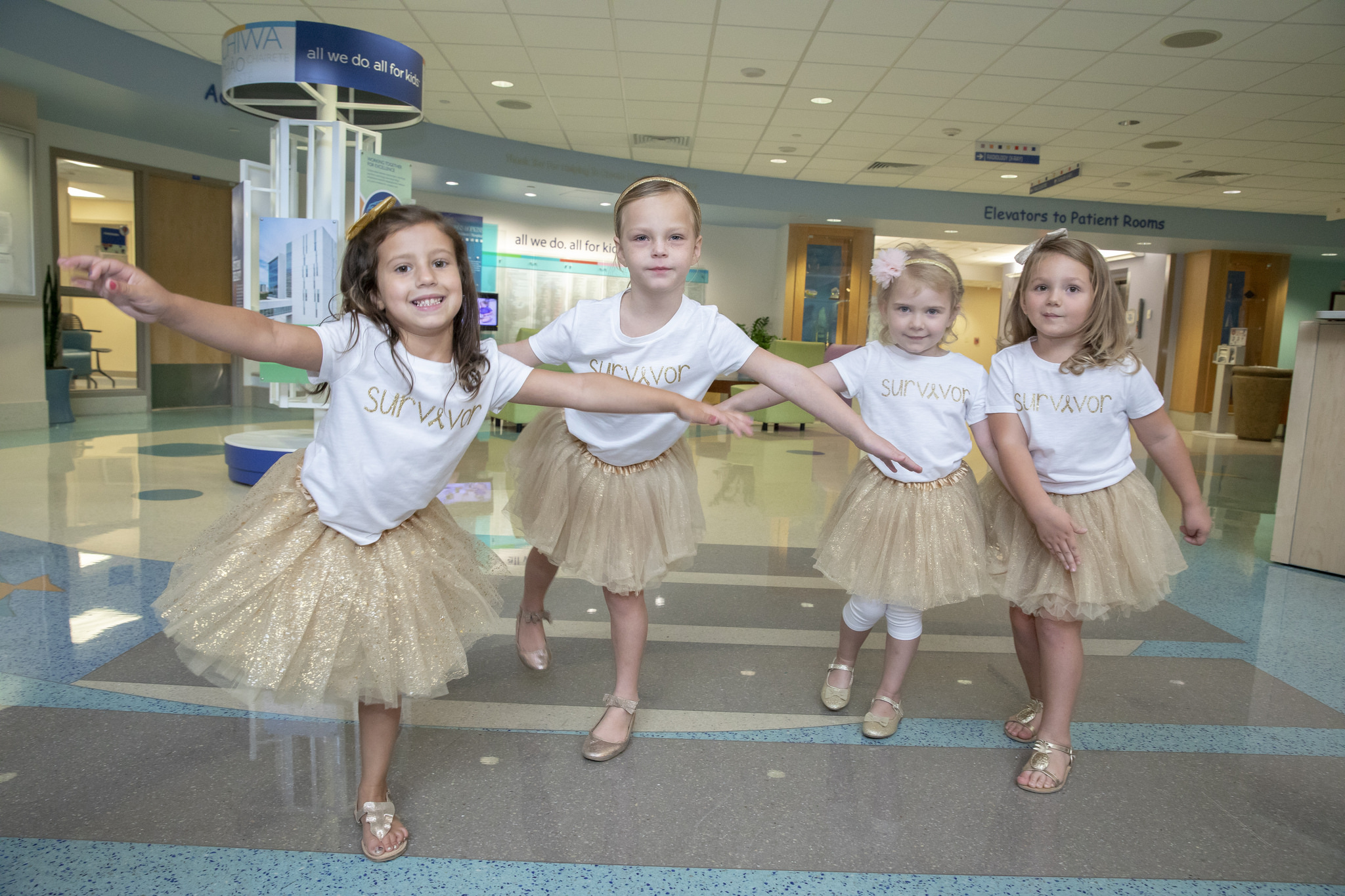 McKinley, Ava, Chloe and Lauren cancer survivors 4